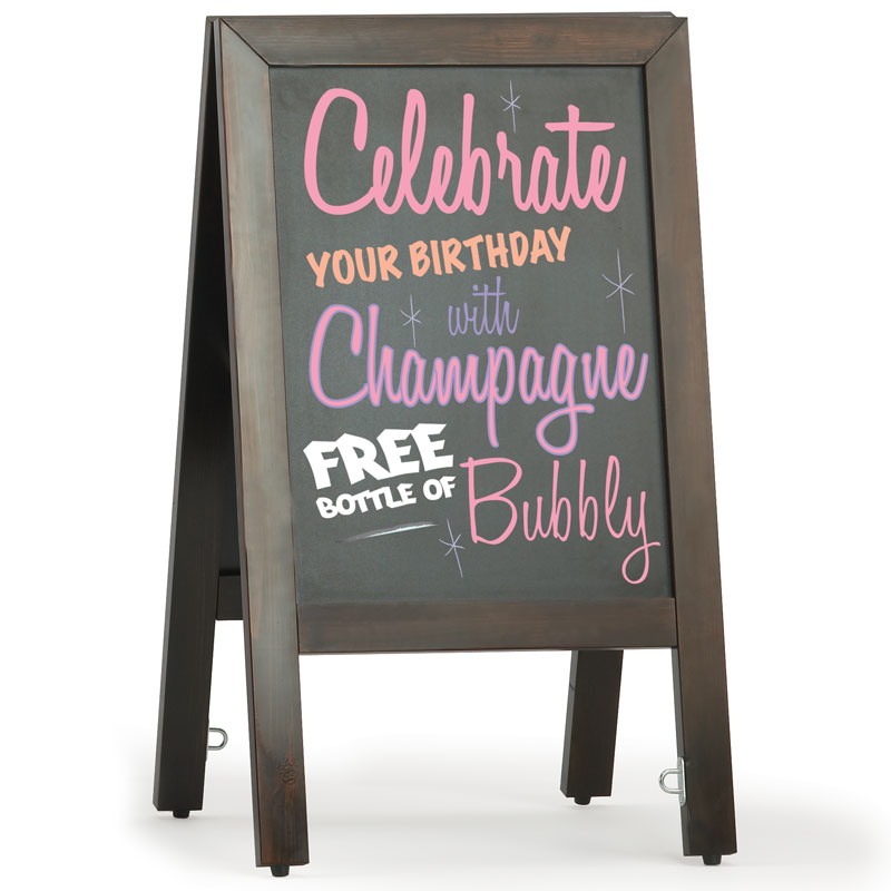 Traditional Chalk A-board | Clear Display